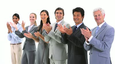 stock-footage-multicultural-team-applauding-against-a-white-background