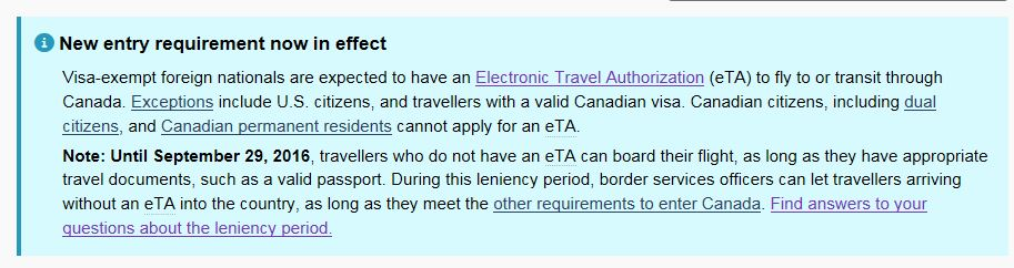 in an earlier post last year i predicted that the electronic travel authorization eta program may end up being akin to visas for the visa exempt agreeable home office person visa