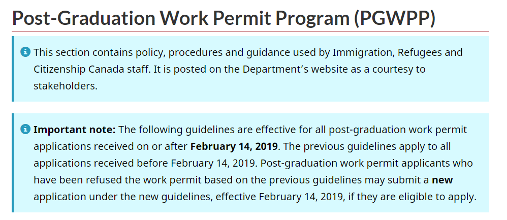 IRCC Makes Positive Changes to the Post-Graduate Work Permit Program